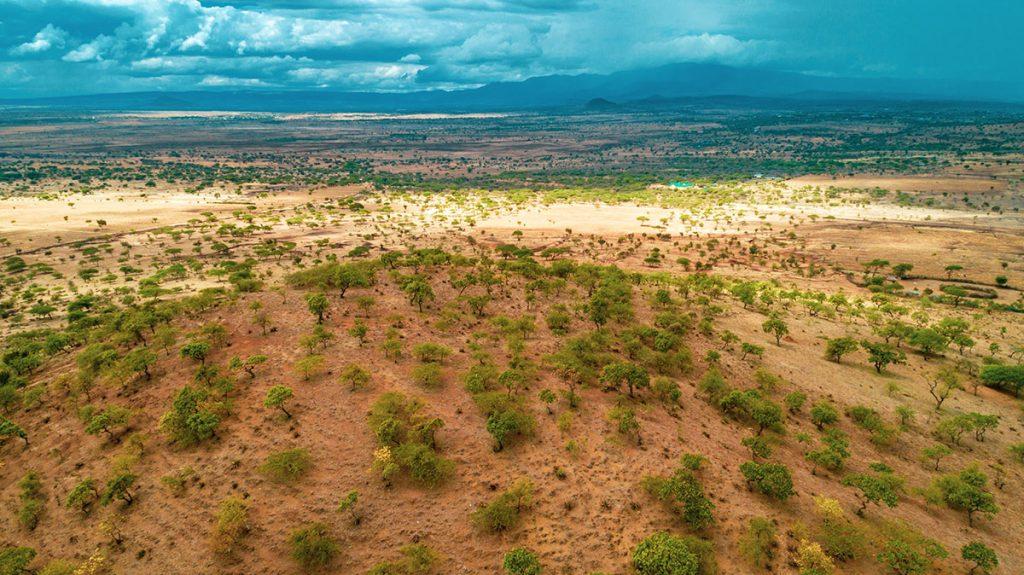 tanzania arial view